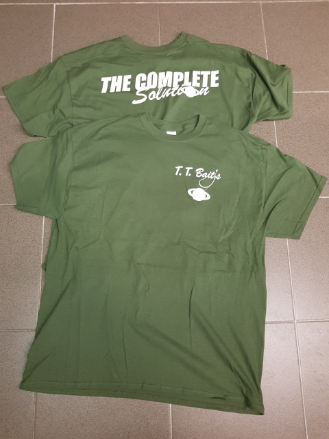 T.T. BAITS T-SHIRT The complete solution Olive/Weiß